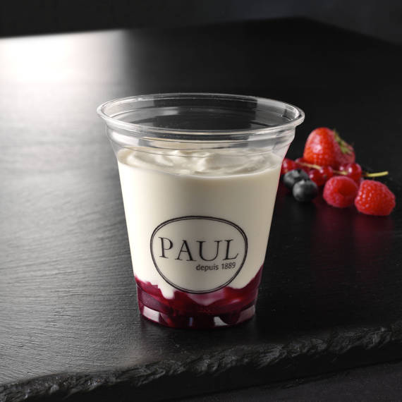 Fromage blanc fruits rouges